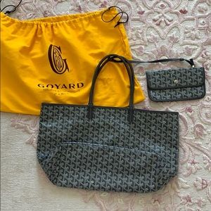 [PRICE FIRM] GOYARD Saint Louis PM with Pouch Grey